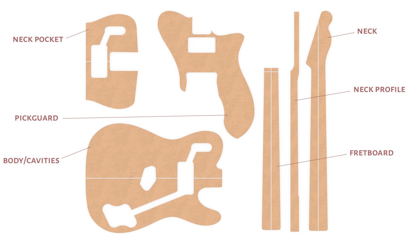 Fender Telecaster Router Templates 72 Custom