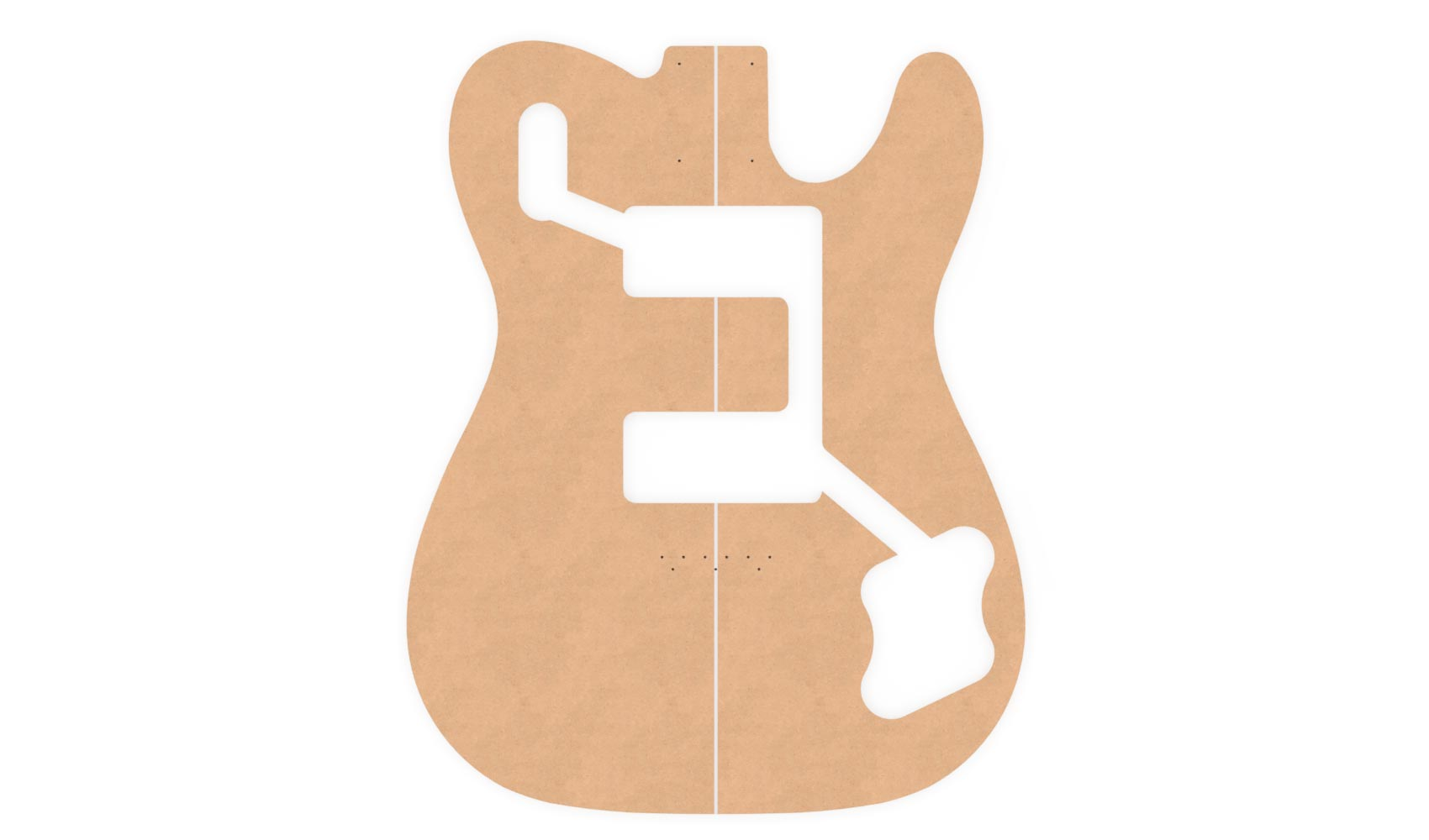 Fender Telecaster Router Templates ('72 Deluxe) | Electric