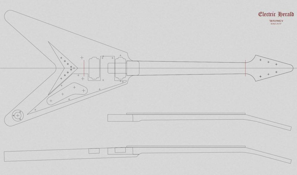 floyd rose routing template - nice flying v template elaboration example resume and