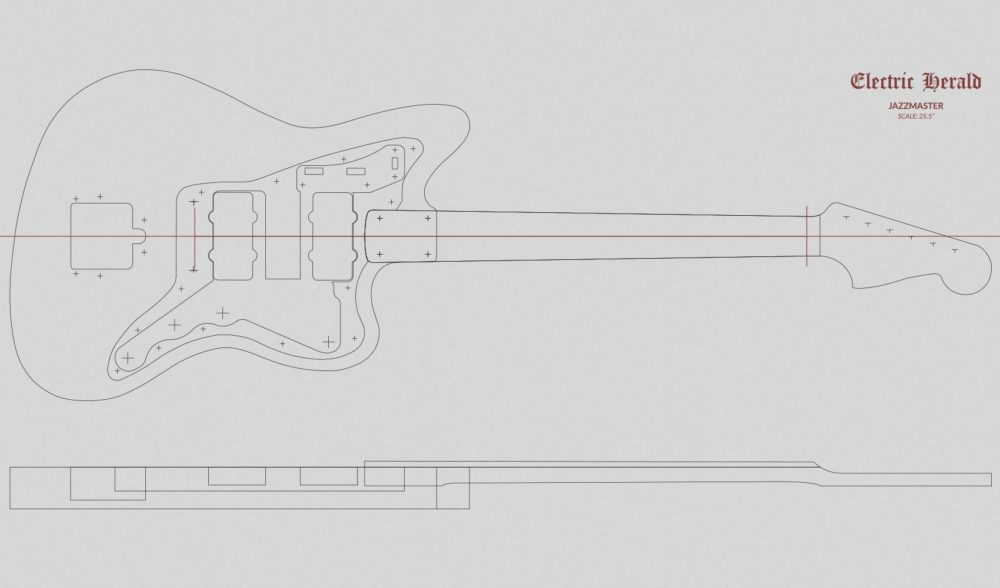 Outstanding jazzmaster body template image collection for Fender jazzmaster body template