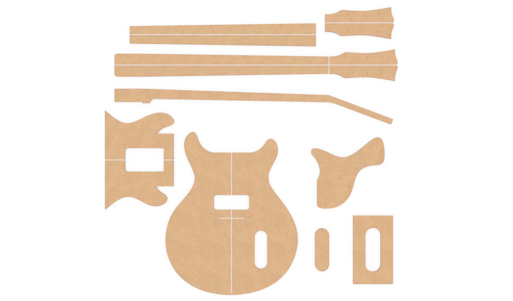 Gibson Les Paul Jr Double Cut Router Templates