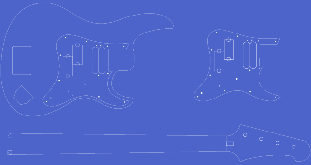 Yamaha Attitude Limited II Bass template / blueprint.
