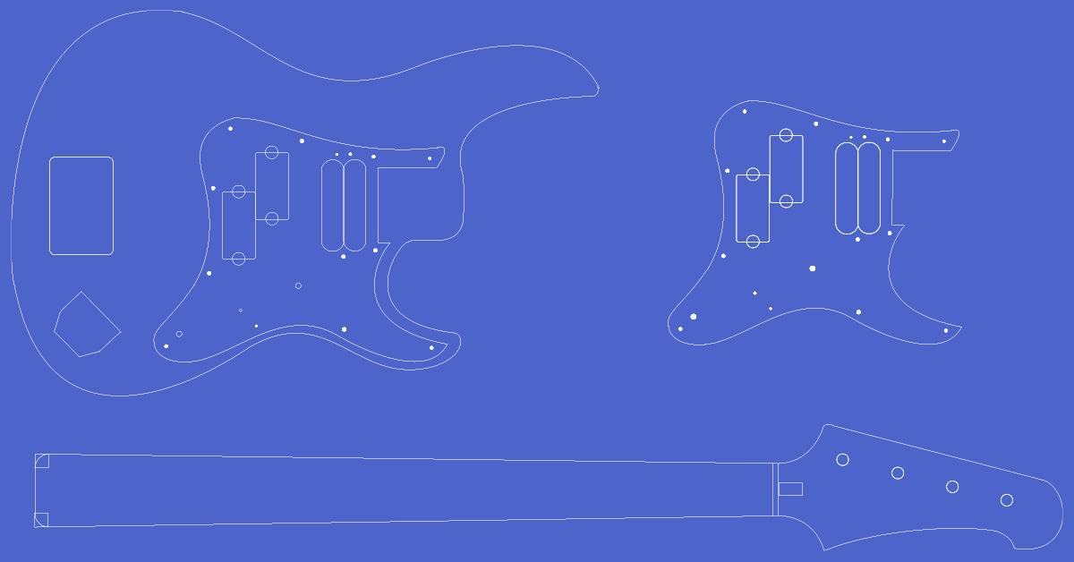 Yamaha Attitude Limited II Bass template / blueprint.