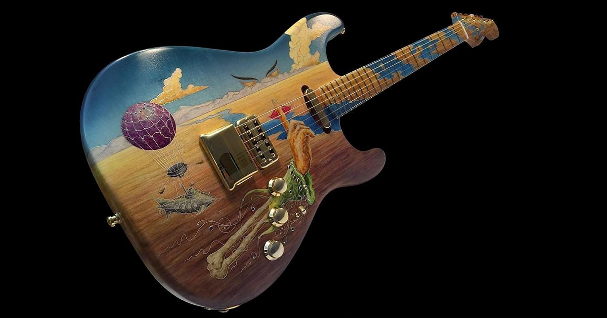Beautiful multi-material guitar inlays by master luthier Yuriy Shishkov.