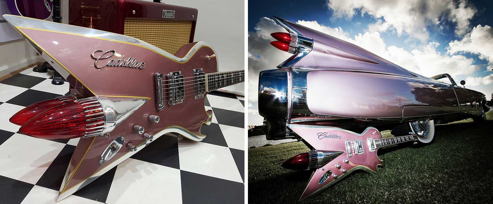 Guitars built from classic guitar parts.