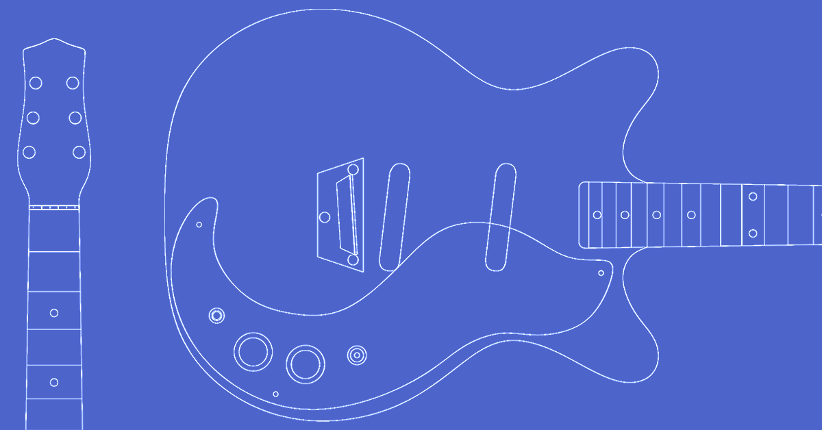 Danelectro DC '59 Guitar Templates