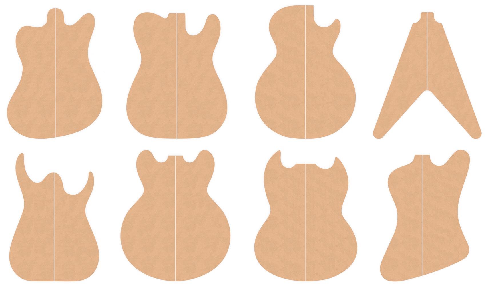 Guitar Body Templates | Guitar Body Templates Electric Herald