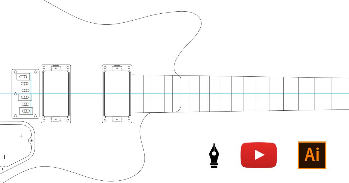 Guitar Design Video - Adobe Illustrator