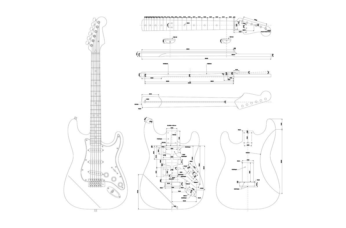 Fender Stratocaster Guitar Templates | Electric Herald